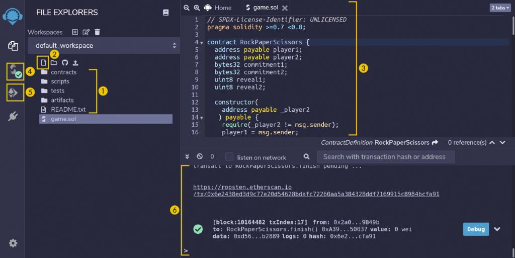 """Mit der browserbasierten IDE """"Remix"""" kann man schnell und einfach in die Programmierung von Smart Contracts einsteigen."""