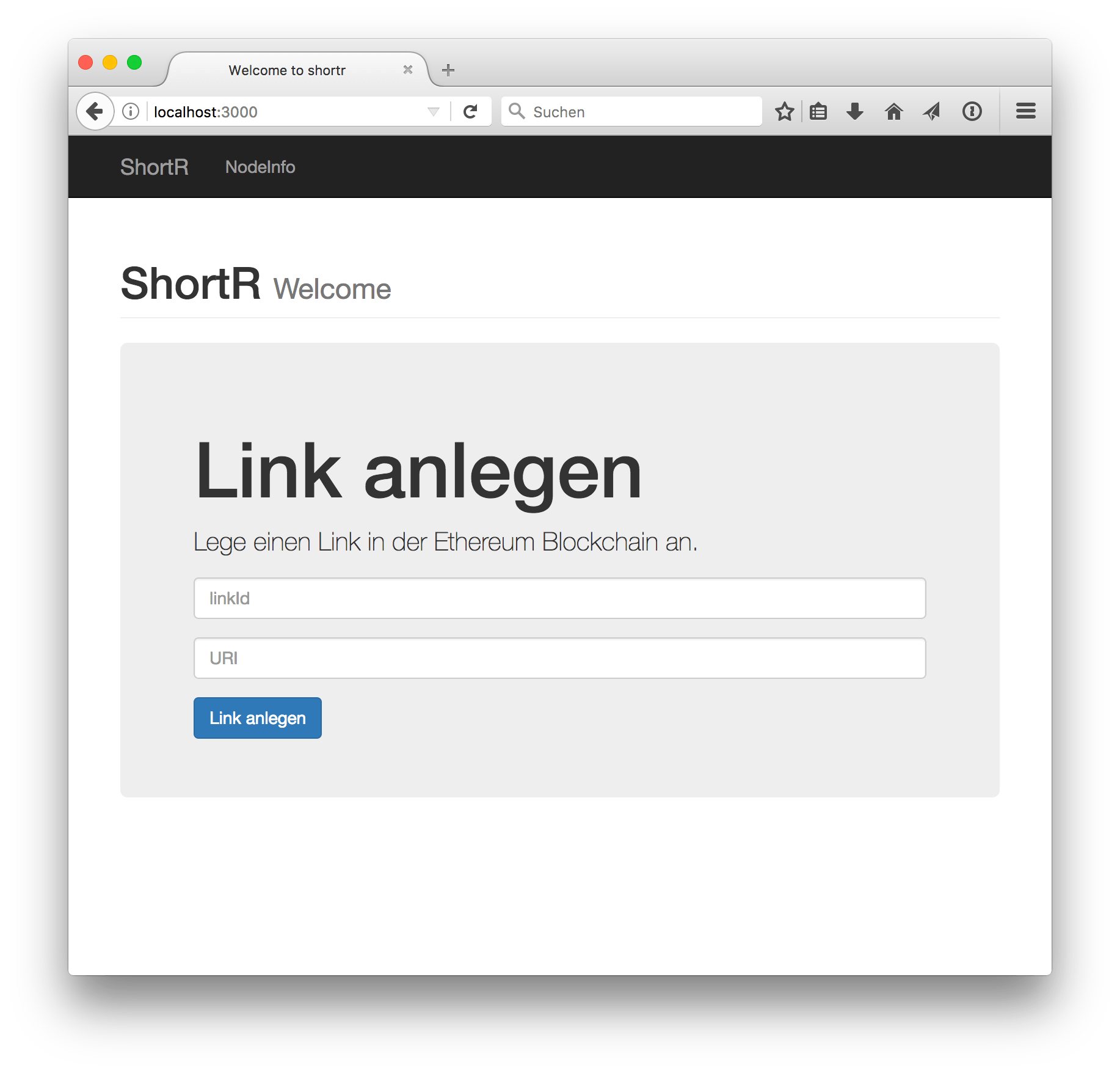 Abb. 5: ShortR Web-App