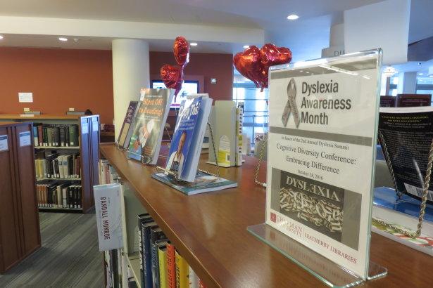 Library Display Celebrates Dyslexia Awareness Month