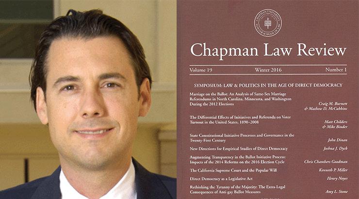 "Fowler Law Professor Henry Noyes Publishes ""Direct Democracy as a Legislative Act"""