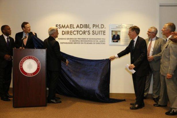 Chapman names director's suite in honor of late Professor Essie Adibi