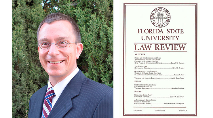 Associate Dean Donald Kochan Publishes Article in <i> Florida State University Law Review</i>