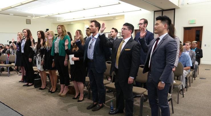 Chapman Law Celebrates Alumni at Bar Admission Ceremony and Reception
