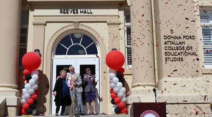 Reeves Hall Ribbon Cutting Draws Community