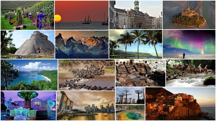 Student-Curated Display: Travel Destinations