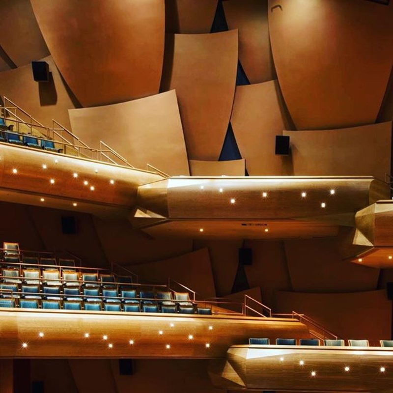 FEEL THE MUSIC -- in just a few hours the Chapman Wind Symphony takes the Musco Center stage to send a spectacular sound through this hall, thrilling tonight's audience! Will you be there? Tickets available at chapman.edu/tickets  PC: Doug Gifford