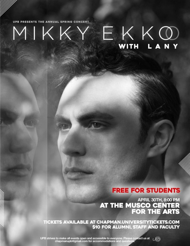 Got plans tomorrow night? Come to Musco Center for the Arts for UPB's Spring Concert, featuring Mikky Ekko and LANY.   Learn more and get your $10 alumni ticket: bit.ly/21fQI13