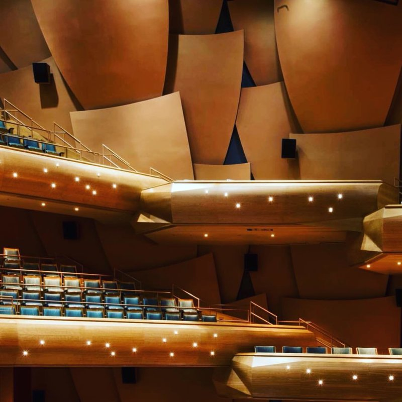 FEEL THE MUSIC -- At 7:30 tonight, the Chapman Wind Symphony takes the Musco Center stage to send spectacular sound through this hall, thrilling tonight's audience! Will you be there? Tickets available at the door! PC: Doug Gifford
