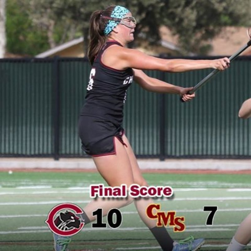 @gretchenrodenberger scores four in 10-7 win over CMS! Panthers advance to SCIAC Championship -#weCUpanthers 👀