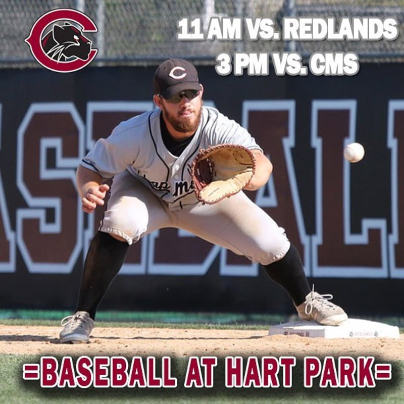 SCIAC round robin continues today at Hart Park for the Panthers! First pitch of the doubleheader is set for 11 am! #CUthere 👀