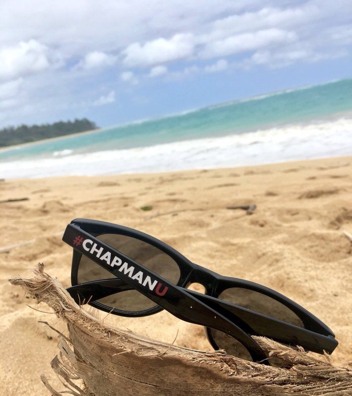 Always bring #ChapmanU 😎 to your sunny days at the beach https://t.co/JI75m5GdN7
