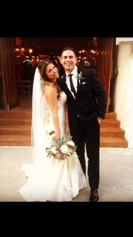 """Happy #SweetheartSunday! Dominick Gaitan '08 (MBA '14) married Cinzia (Pinamont) Gaitan (MBA '14) on September 5, 2015 in Villa Antonia in Austin, Tex.  The couple met at the MBA graduate lounge during MBA orientation.  Their love story according to Dominick: """"Cinzia and I met the first day of MBA orientation. I was immediately attracted to her as she strolled in 15 minutes late, but knew I needed to stay focused on my studies. Turns out not only was she beautiful, but she was even more brilliant. We became quick friends and study partners. It wasn't until a class trip down to Brazil that we finally were no longer 'just friends.'   During our capstone, we were reviewing a case study on eHarmony and if they would surpass the dating website Chemistry.com. I was deep in other thoughts when called upon to give my opinion, to which I replied,"""