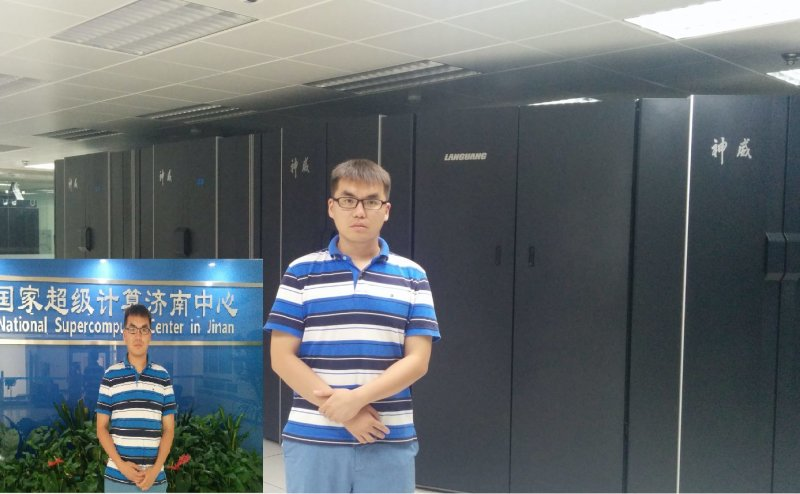 #SummerOfScience: Wenzhao Li, a PhD student in the Computational and Data Sciences program working with Prof. Hesham El-Askary, is spending his summer as a research intern in the National Supercomputer Center in Jinan (NSCCJN). NSCCJN is one of six national supercomputing centers in China. It was ranked as # 13 in the TOP-500 fastest supercomputers in the world when it was first launched in 2011. Wenzhao is running Weather Research and Forecasting (WRF) model in the NSCCJN #supercomputer to dynamically downscale validated atmospheric data to high horizontal resolution with a time span matching the power outage data. #ChapmanSciences #ScienceSelfieCU