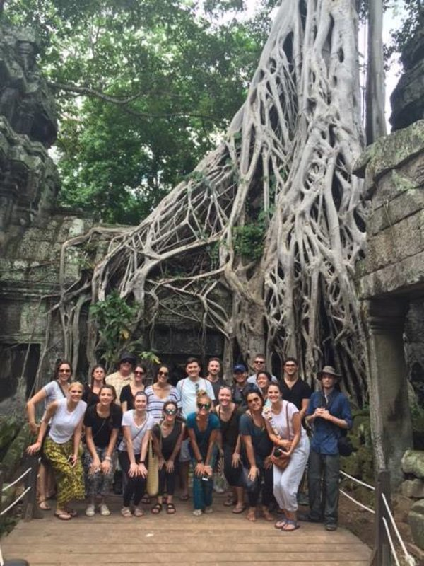 #ChapmanU students abroad on the Cambodia/ Vietnam travel course are having a great time visiting ancient grounds! #CUGlobal
