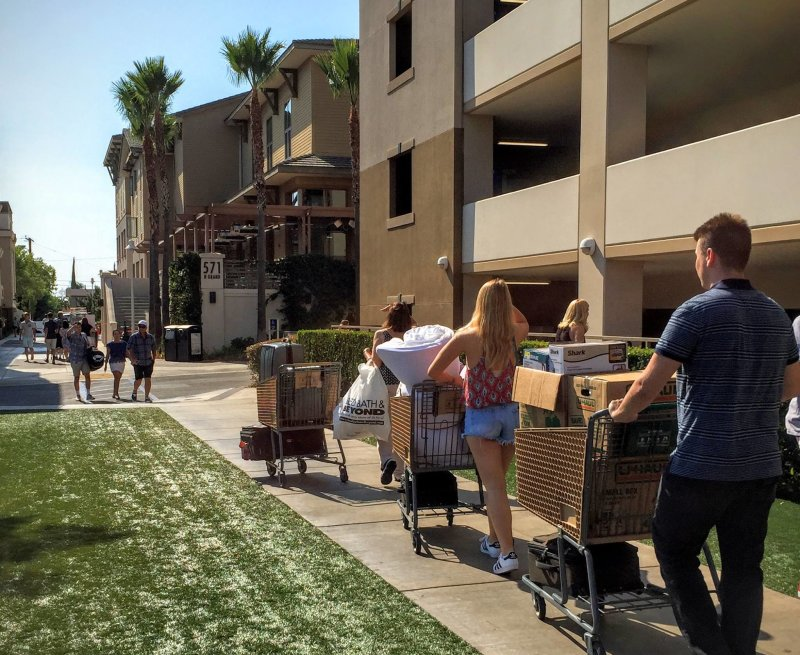 For those who lived on campus during college, do you remember move-in day? This past Tuesday students and parents moved into our Chapman University Residence Halls.