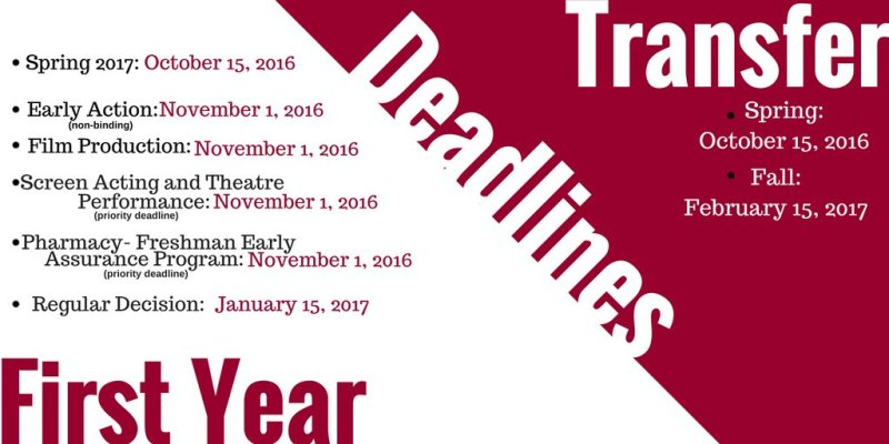 The 2017 first year and transfer deadlines are available! Fill out your application now through @CommonApp 🐾 https://t.co/seSJc1nW5e