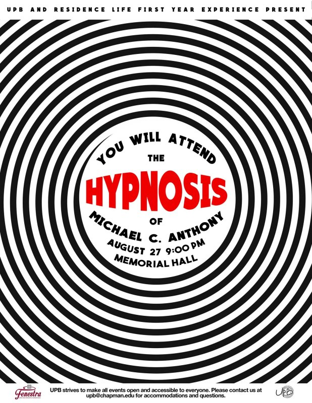 Did you have a great time at Club Glow? The fun doesn't stop there! Come to the hypnotist show tonight!