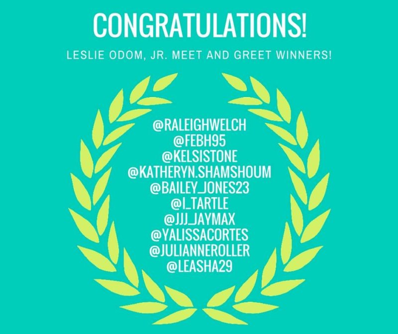 Congrats to our winners! Please check your messages for more information.