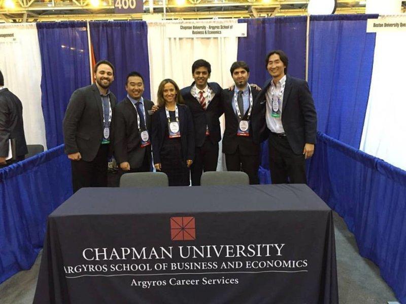 The Chapman University MBA team at National Black MBA Association, Inc. in New Orleans! #NBMBAA #ChapmanMBA #ArgyrosCareerServices #NBMBAA16
