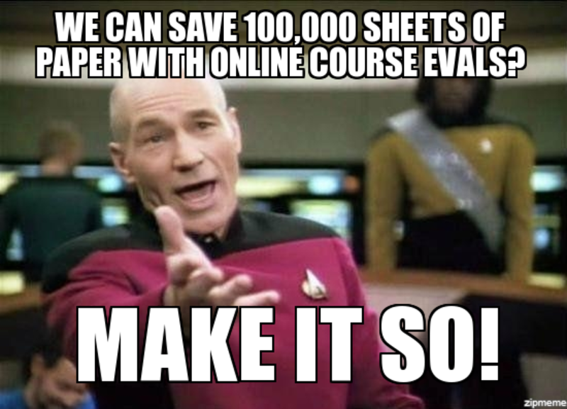 Students: If you haven't submitted your online course evaluation yet, reminder emails will arrive 12/5 at 7:00am!