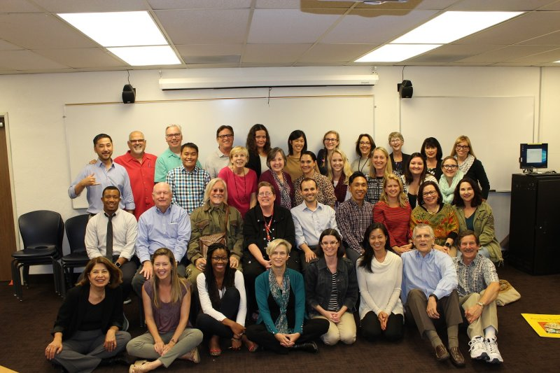 CES faculty and staff during the last meeting at Reeves Hall.