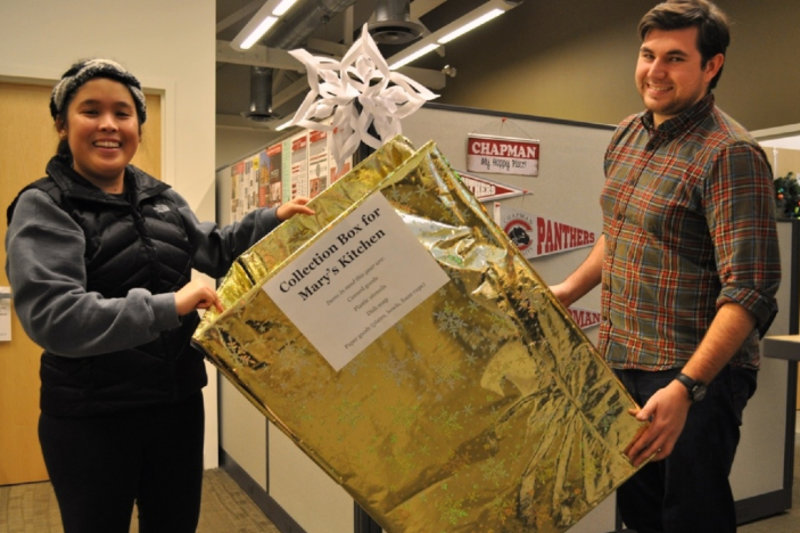 Campus kicks off annual food drive for nearby Mary's Kitchen