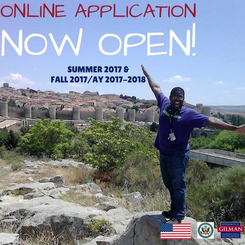Are you studying abroad Summer 2017 or Fall 2017? Apply for the Gilman Scholarship below!