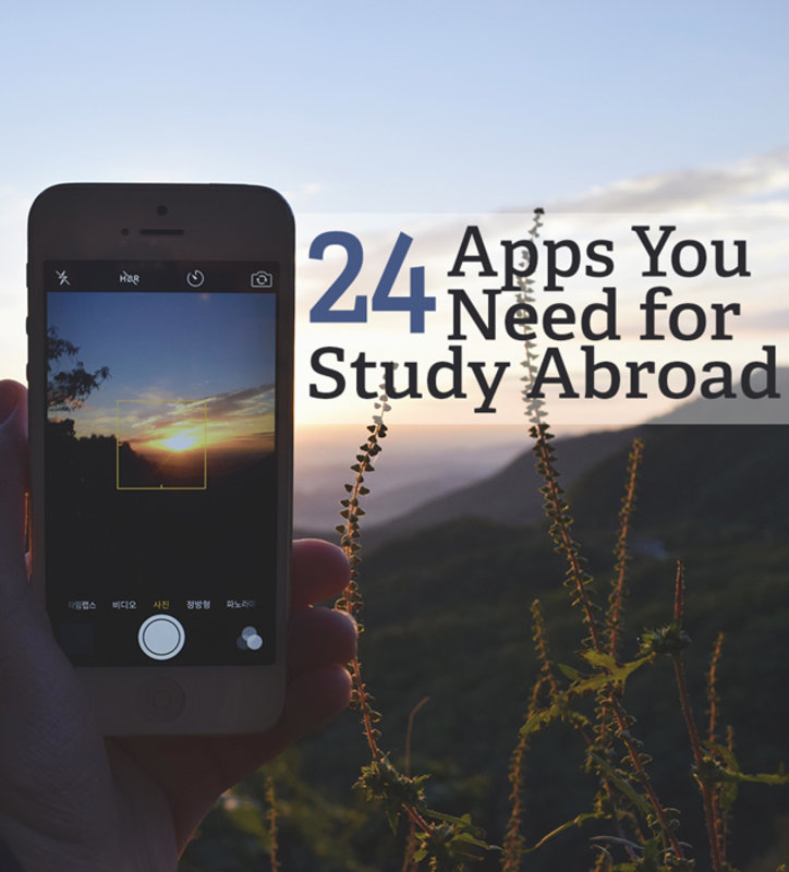 ✔ Luggage ✔ Passport ✔ Smartphone  ✔ Apps to make studying abroad easier