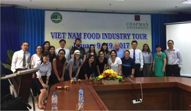 Last month, #ChapmanU's Food Science student took a break from the California winter and flew to Vietnam for a Food Industry Study Tour. The entire course was designed in partnership with Nong Lam University and their faculty from the Food Science and Technology Department. With 10 full days of traveling through southern Vietnam, the class was able to experience a taste of Vietnamese food, culture, and hospitality. They visited various farms, food manufacturing facilities, and points of trade around Ho Chi Minh City, Mekong Delta, and the city of Da Lat. #ChapmanSciences