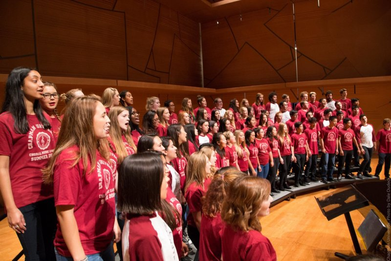 REGISTRATION NOW OPEN for the 2017 Chapman Choral Music Camp for high school singers!  Details below: