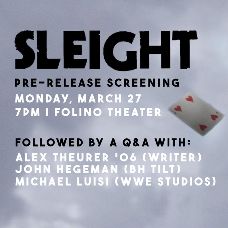 Join us for a pre-release screening and filmmaker Q&A of SLEIGHT TONIGHT at 7PM! https://t.co/Bhhl5TeEMh https://t.co/eOFNnwBkST