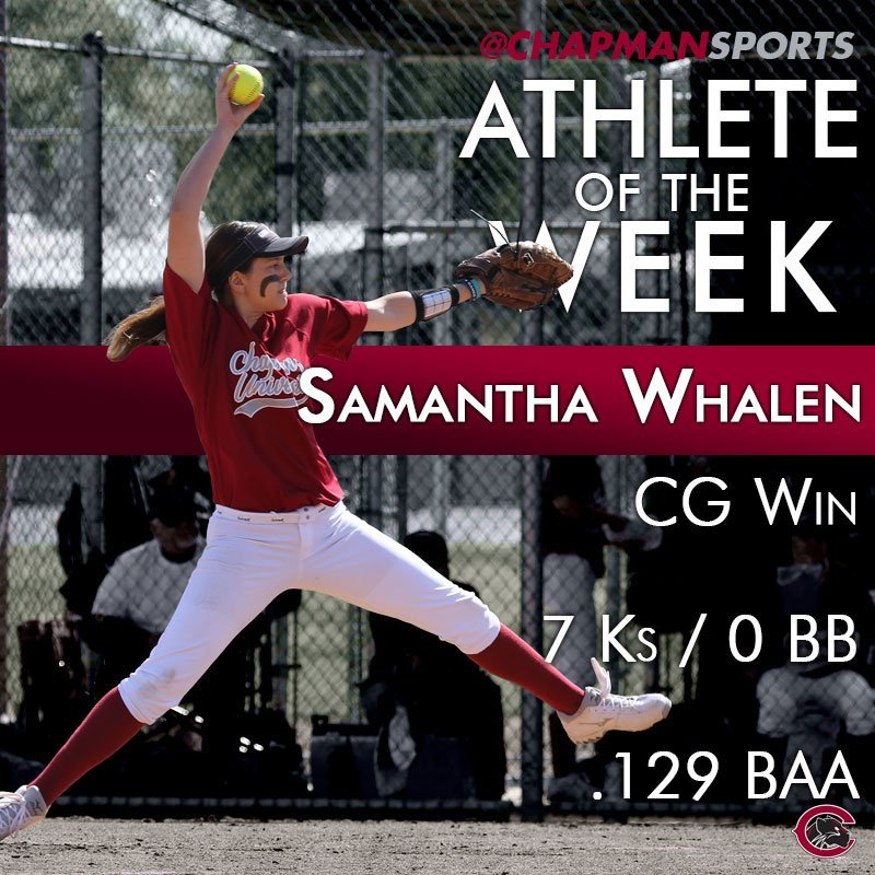 Congrats to our Athlete of the Week, Samantha Whalen! #weCUsamantha https://t.co/Xl2GfDaEV0