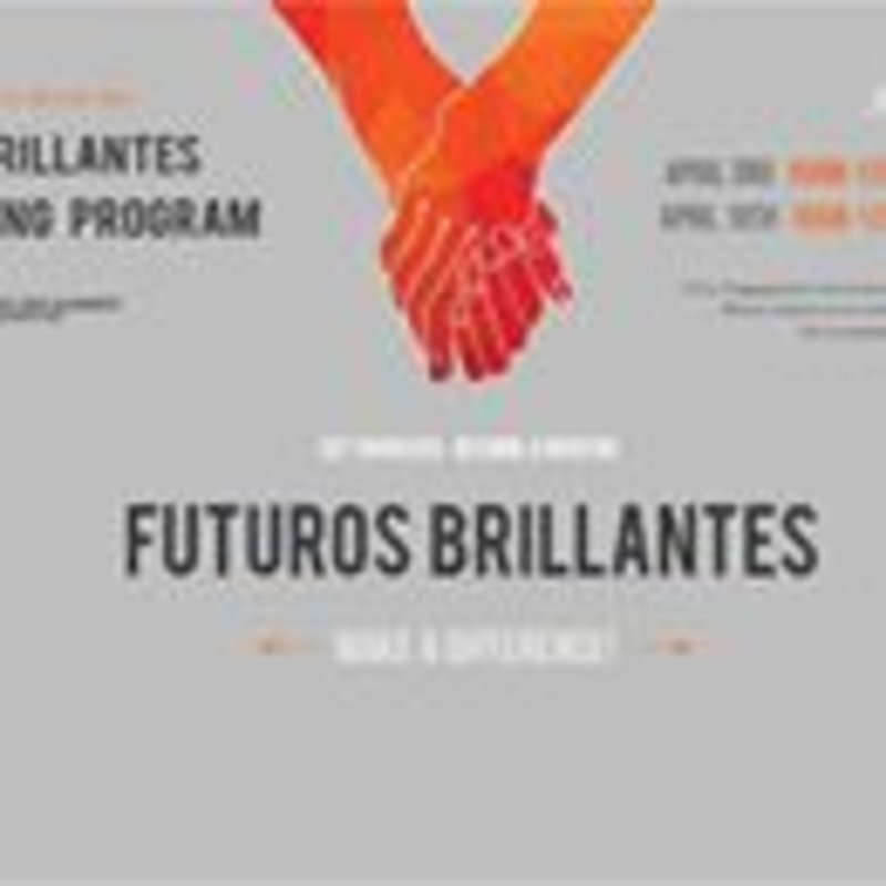 Have an aspiration for making a difference in someone's life? Want to become involved in your local community? Stop by to learn more about the Futuros Brillantes Teen Mentoring Program to see how you can become a Mentor and make a change! Info sessions will be held in AF 206 C on April 3 and 10 from 10 am to 12 pm April 7 and 14 from 12 pm to 2 pm