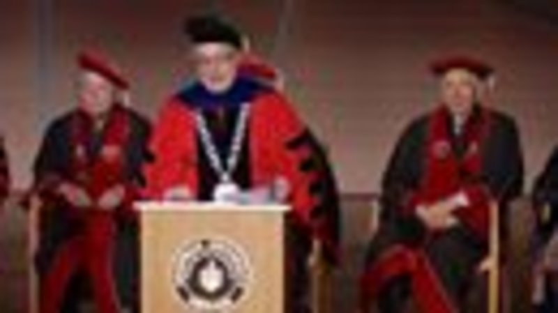 World-renowned opera star Placido Domingo receives an Honorary Doctor of Arts at Chapman University.