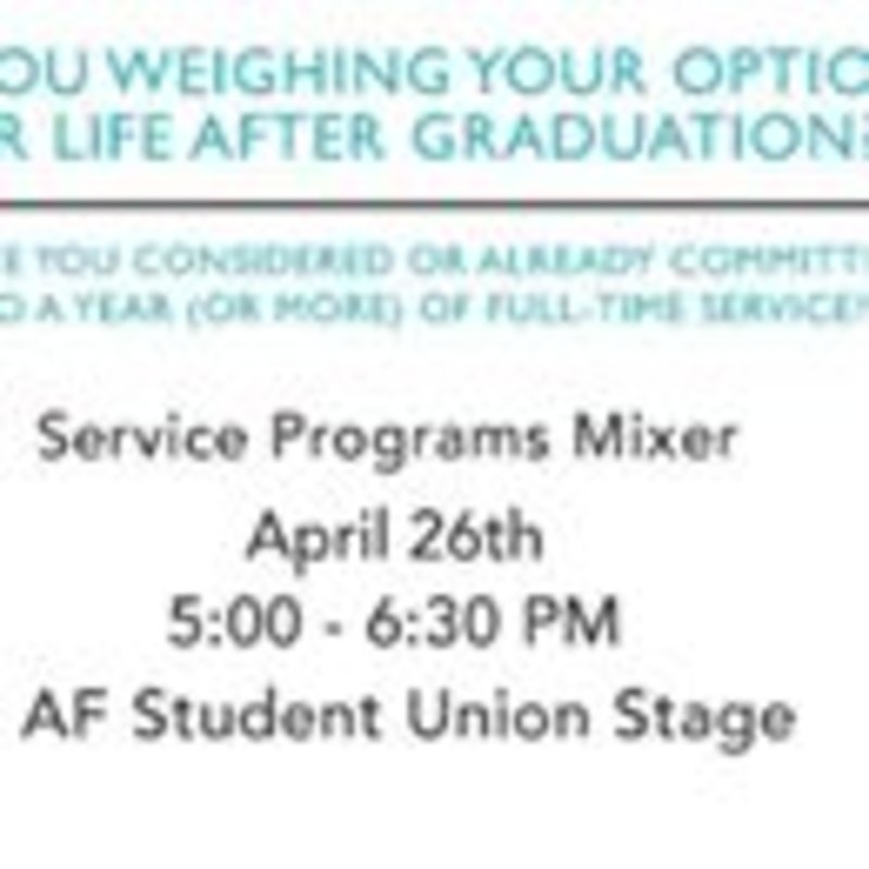 Interested in service after graduation? Come to this mixer event to meet other students like you! #service #civicengagement #chapmanu
