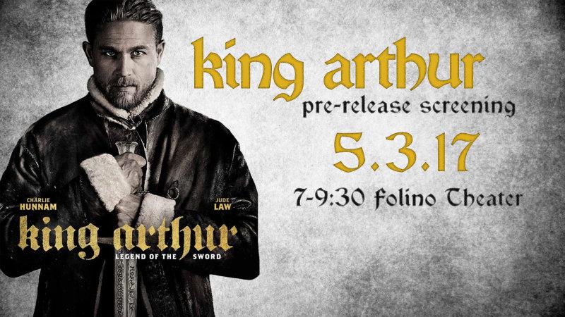 Pre-release screening: KING ARTHUR