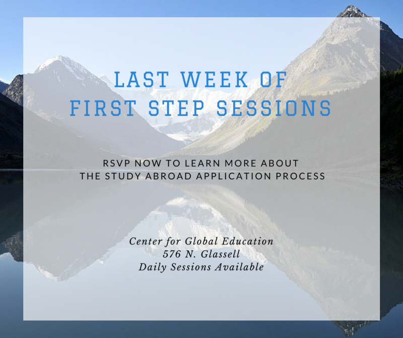 Last chance to sign up for a First Steps Session for Spring 2018 study abroad! RSVP here: http://bit.ly/cuabroad