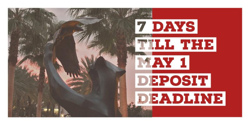 The May 1 deposit deadline is quickly approaching! Deposit now so you can be #ChapmanBound 🐾 https://t.co/YZ2INXCAii https://t.co/rD56B5DDJS
