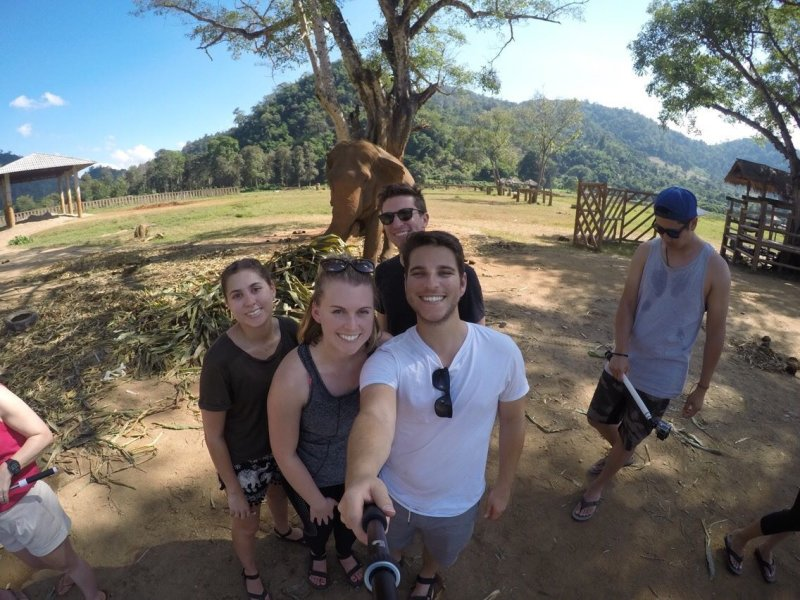 Check out this awesome shot of Chapman '13 alum and friends on thier awesome trip to Thailand this past November!   Have news to share? Submit your news and updates for us to publish: http://chapma.nu/1y5PzKw