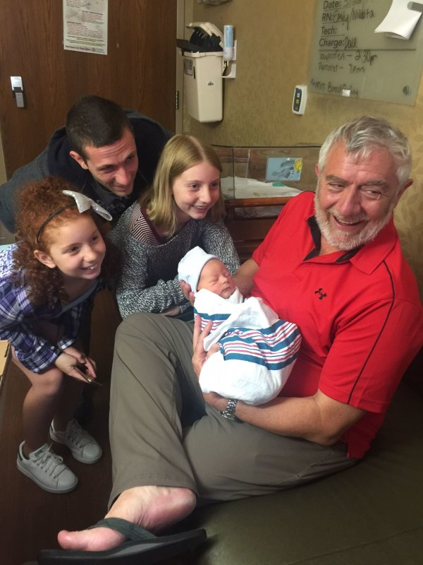 We have another Struppa in the family! My son Alex and his wife Kaitlin just had a baby boy and we could not be happier.
