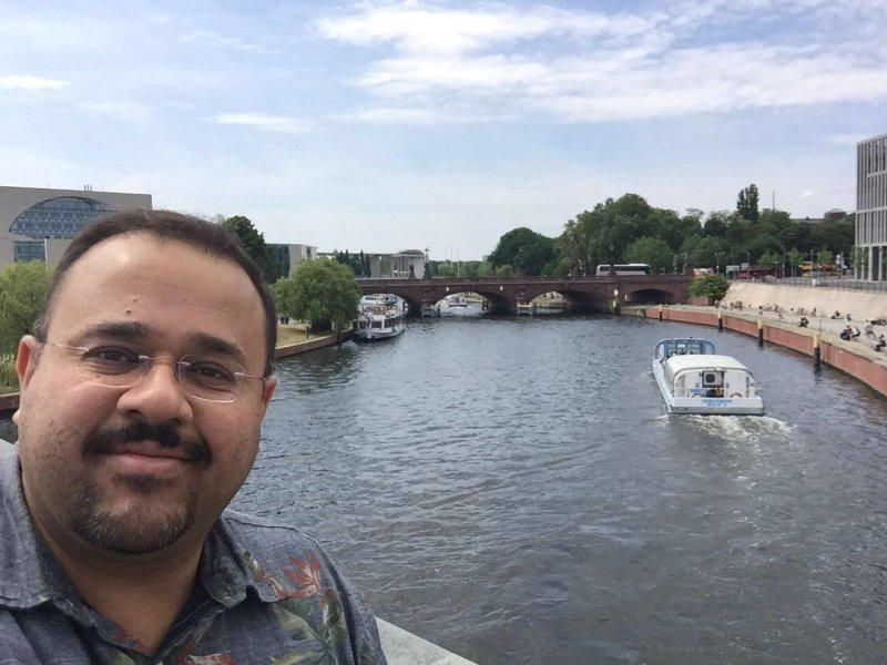 In honor of #NationalSelfieDay, here's Dr. Hesham El-Askary in Berlin last year during the 10th Annual GEO European Projects Workshop! Comment with your awesome #ScienceSelfies for National Selfie Day!
