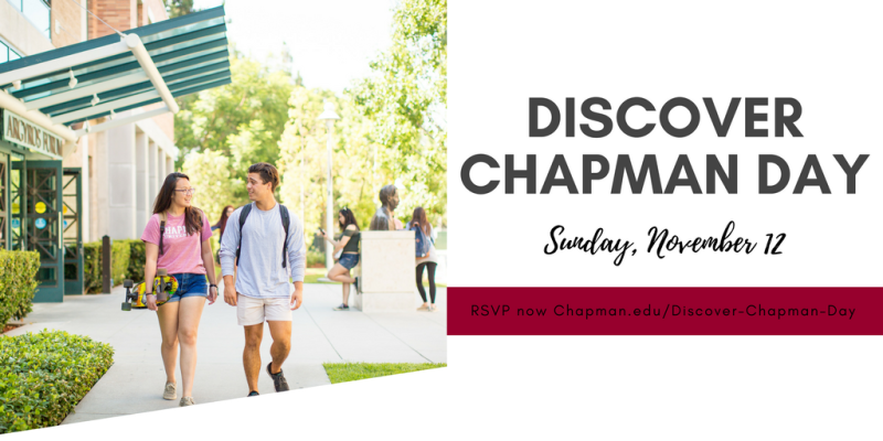 Discover Chapman Day is quickly approaching! RSVP now for our annual open house 🐾 https://t.co/zNZ0QZVhZg https://t.co/INc76hvvtS