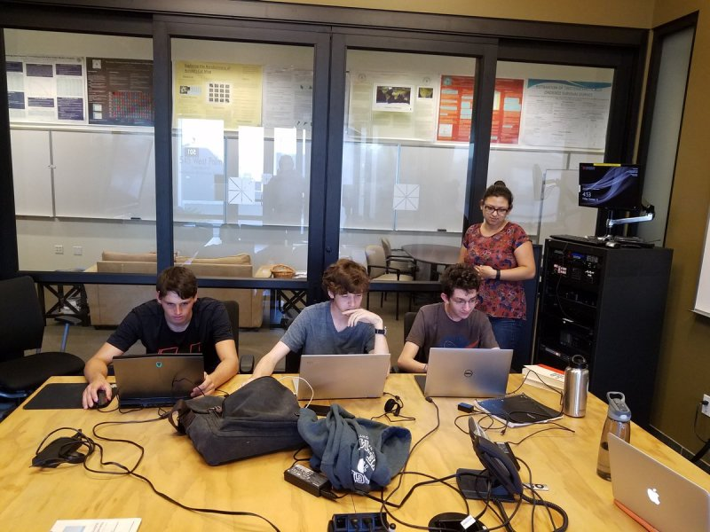 Chapman's IEEE Xtreme Programming Team at work. #IEEEXtreme https://t.co/qXUiKj1joy