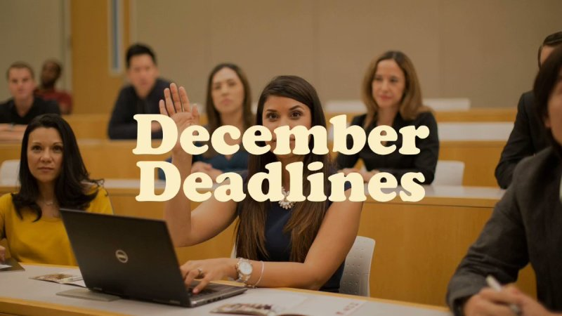 Get ready for the December Deadlines! https://t.co/fHZwaS3BGi