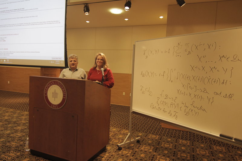 Mathematicians from across the globe gather at Chapman for conference
