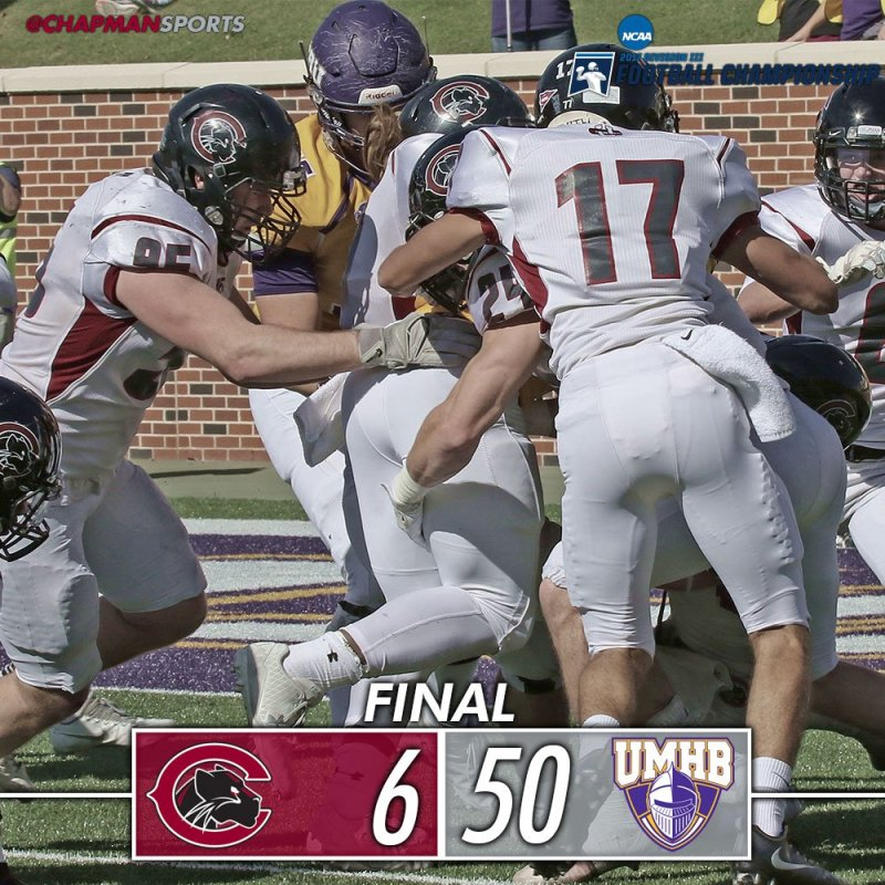 A tough one today for the Panthers but a lot to be proud of with a fantastic season! #ChapmanU #weCUpanthers👀#d3fb https://t.co/5FD06VqMTY