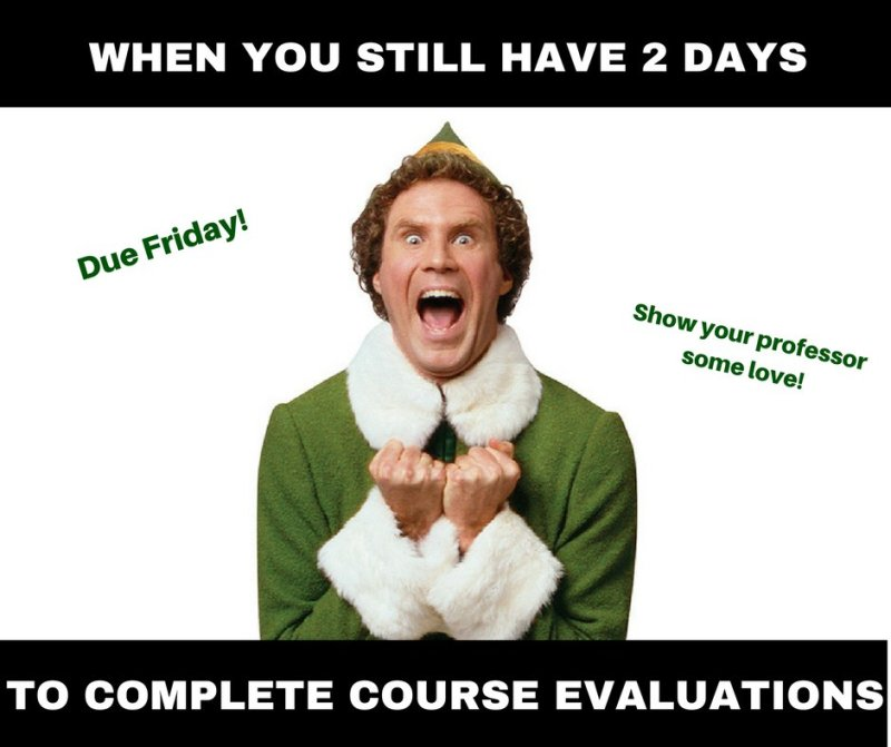 Keep filling out your course evaluations, Panthers!! They're due tomorrow! https://t.co/i4SY2DKevL