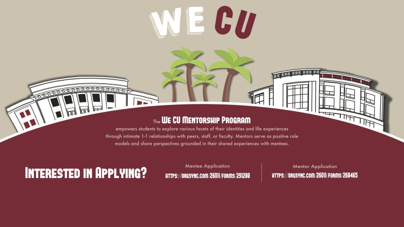 We CU Mentorship Program - Applications LIVE!