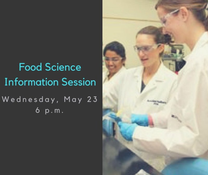 Sign up for the Food Science Information Session here: https://t.co/GsKyPCO0sC https://t.co/YTPjFKw8bx