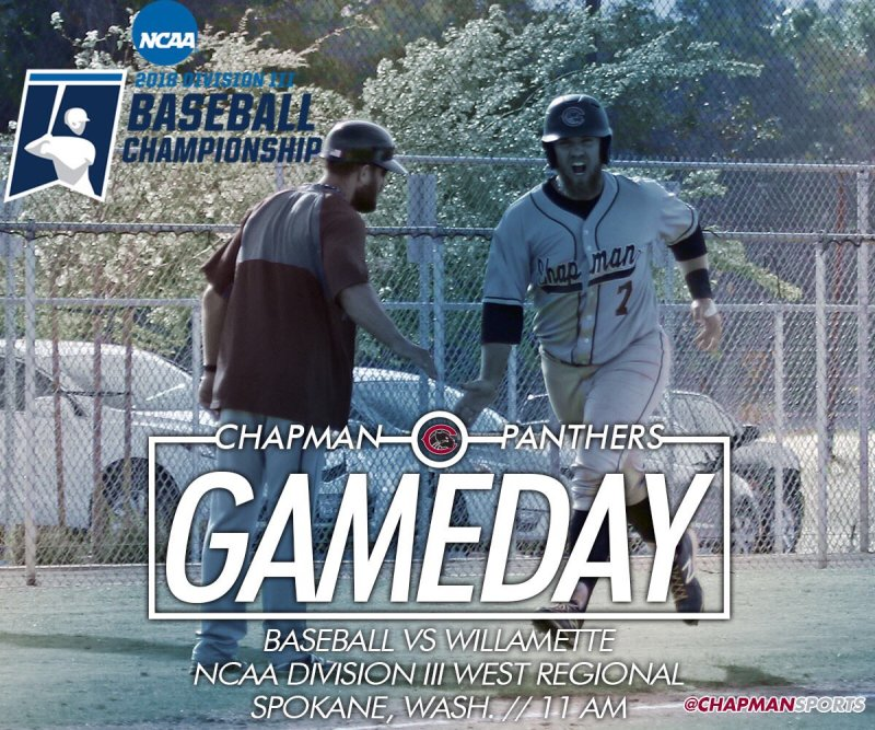 Wake up! It's an NCAA Gameday! First pitch against Willamette coming up at 11am! #weCUpanthers👀 #ChapmanU https://t.co/SEbSIFT6OP